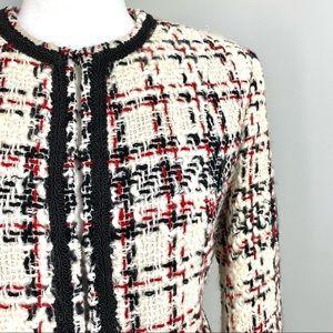 Nygard Collection Cream/Black Tweed Wool Blazer 6P